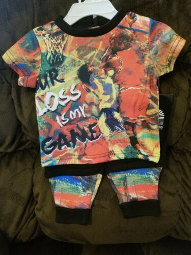 Akademiks Jeanius Level Products Kids Infant Outfit Graffiti