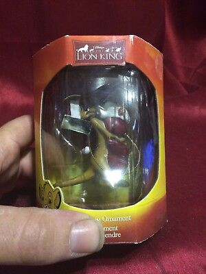 """DISNEY THE LION KING 2 1/2"""" TIMON HOLIDAY HANGING ORNAMENT NEW"""
