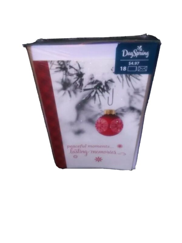 DaySpring Christmas Cards Boxed Lasting Memories 18 Piece Set With Envelopes