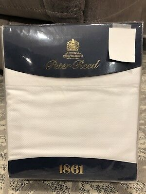PETER REED 1861Queen Sheet SetWhite Cotton 300 TCLuxury Linens NEW