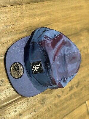 Los Angeles Dodgers Camper 5 Panel Hat New Era Nylon Purple Changing Colors Rare