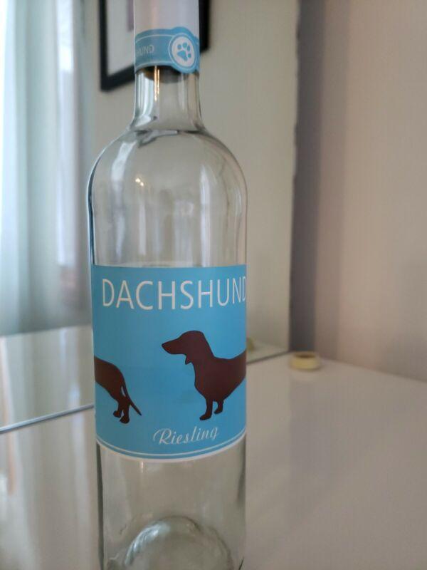 DACHSHUND WINE BOTTLE