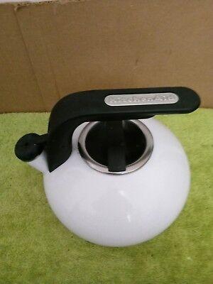 KITCHENAID-WHISTLING-TEA-KETTLE~~White~~ Stove-Top-Tea-Pot-2-Qt-Quart-1-9-L