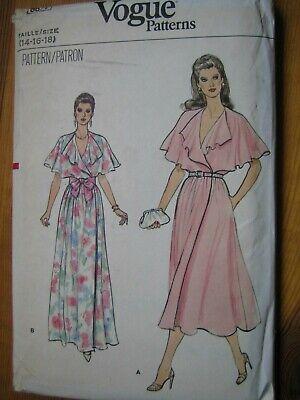 Vintage Vogue (Vintage VOGUE Schnittmuster 8677 - Wickel-Kleid - US Gr 14-16-18 (ca 42-48))