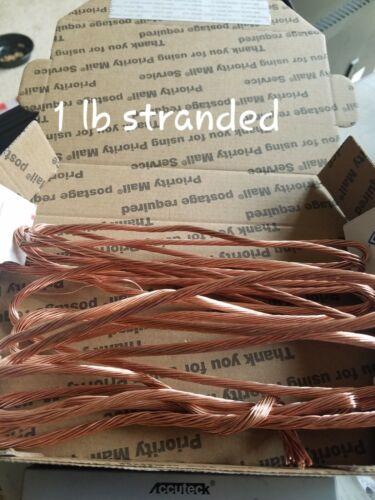 Bare Bright Shiny Copper STRANDED Wires Scrap Metals-1 pounds