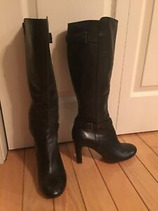 Leather boots size 9-10