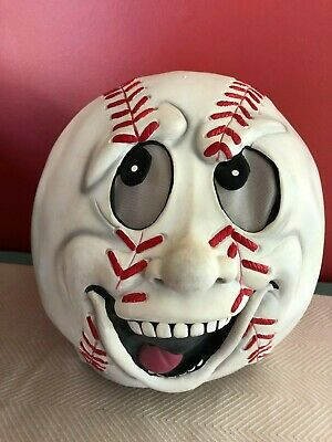 Baseball Head Mask Halloween (Easter Unlimited Rubber Halloween Mask Laughing Baseball Head Face)