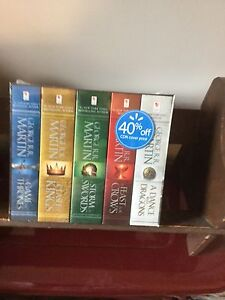 5 volume boxed set of Game of Thrones