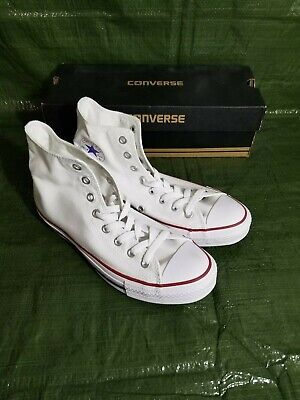 Converse Chuck Taylor All Star Optical White Mens High Top Sneakers M7650 Sz 8.5