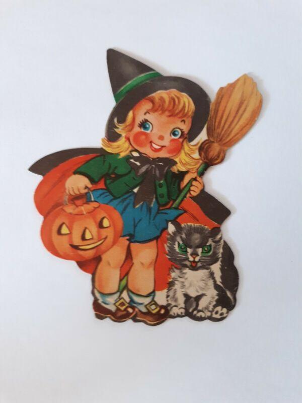Halloween ~ 1 Vintage Never Used Die Cut. Witch