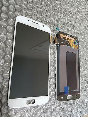 New White Samsung Galaxy S6 G920a G920v Lcd Touch Screen Digitizer   Light Sbi