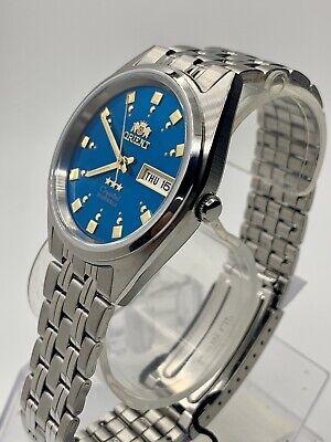 New Genuine  Orient Men's  Automatic Silver Watch W/ Box  FAB00009L9