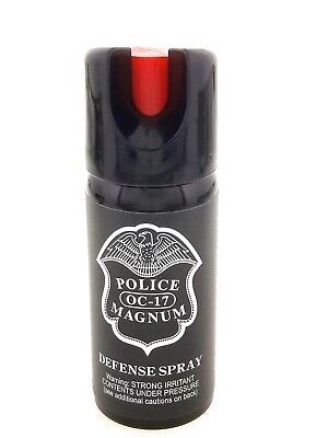 4 PACK Police Magnum pepper spray 2oz ounce Safety Lock Stream Defense Security