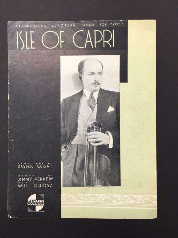 Isle of Capri Sheet Music (Vintage 1934) Sensational European Tango Fox-Trot!