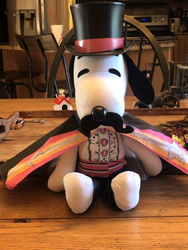 """Vintage Peanuts Snoopy Collector Rag Doll Magician 15"""" Determined RARE"""