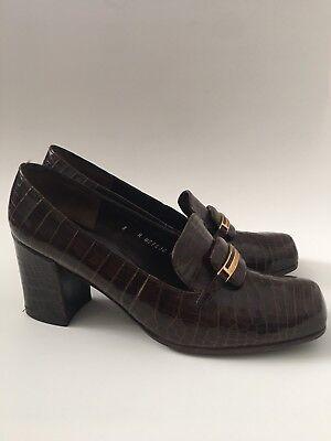 CHRISTIAN DIOR Vintage Shoes Alligator Crocodile Size 8 NEW Not Worn 60's