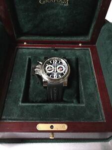 graham chronofighter overlord automatic watch box and papers vgc