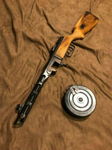 Super Rare Hudson PPSH Full Metal Real Wood Model Gun from Japan