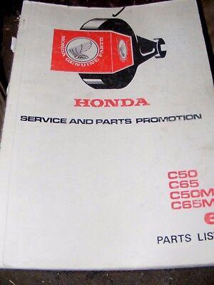 HONDA  C50 / C65 / C50M / C65M2  PART LIST MANUAL  N0.6   (GENUINE MANUAL)
