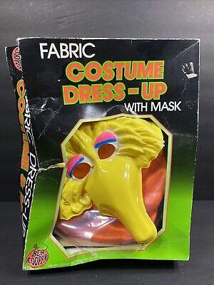 Vintage 1979 1989 Sesame Street Big Bird Fabric Dress Up Costume Mask Ben Cooper