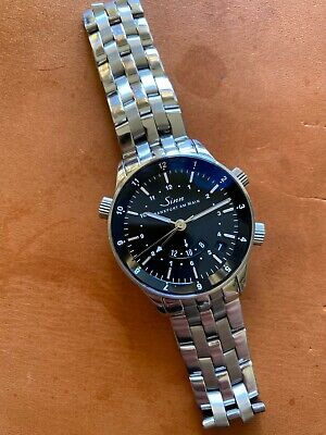 Very Rare Sinn 6066 Automatic Watch with Mechanical Alarm and three time -