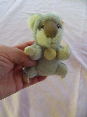 Steiff Koala  Koala bear  button flag stuffed animal Germany b3