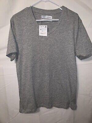 Zara Mens Essentials Medium Gray Short Sleeve T-Shirt