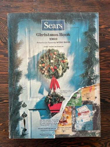 1969 SEARS Christmas Book Wishbook Catalogue FREE SHIPPING