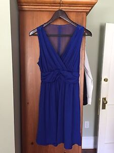 Blue dress with lace back