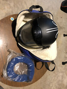 Snowmobile helmet bag and neck guard