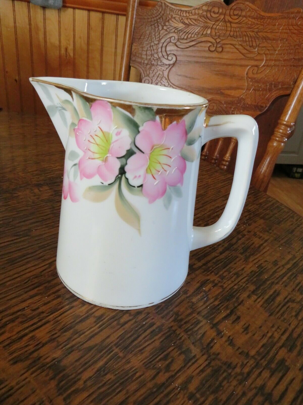 Vintage Noritake Pitcher, Azalea Pattern 5 3/4 Tall. No Chips, Cracks, Crazing  - $12.00