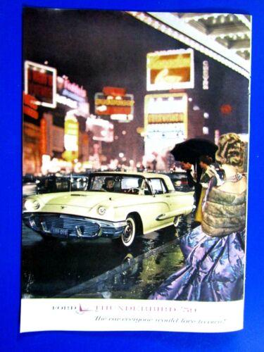 "1959 Ford Thunderbird Times Square Original Print Ad 8.5 x 11"""