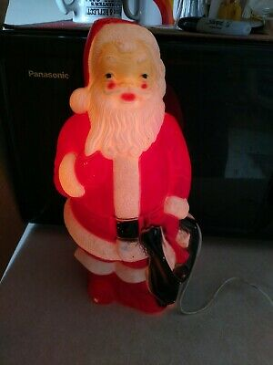 "Vintage Christmas Santa Claus Blow Mold Empire Plastic 1968 13"" Tall Light Up"