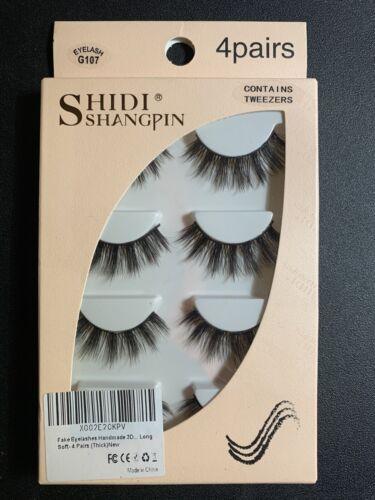 ShidiShangpin Fake Eyelashes Handmade G107  Pairs Tweezers L