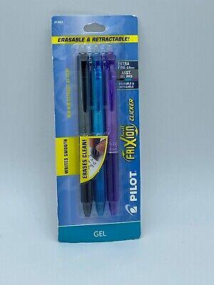 Pilot Frixion Ball Clicker Erasable Pens 3 Pack New