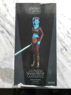 "SIDESHOW STAR WARS AAYLA SECURA JEDI MASTER 12"" 1/6 ACTION FIGURE NEW RARE"