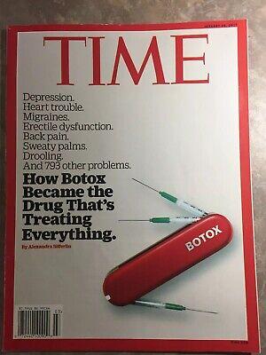 Time Magazine January 16, 2017- How Botox Became The Drug To Treat (Drug Treats)