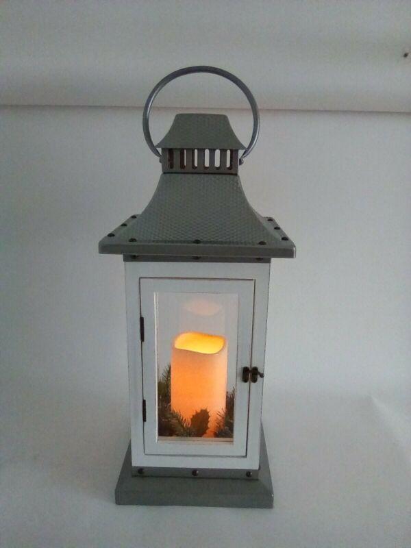 "Decorative 24"" Holiday Christmas Lantern with LED Flickering Candle"