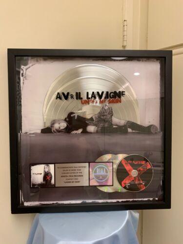 Avril Lavigne RIAA Double Platinum Record Award 2 Million Sold - Under My Skin