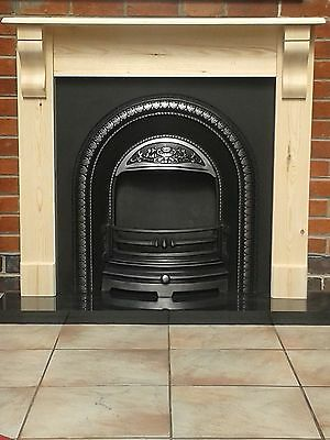 Fire Surround with corbels /pine mantel solid pine wooden