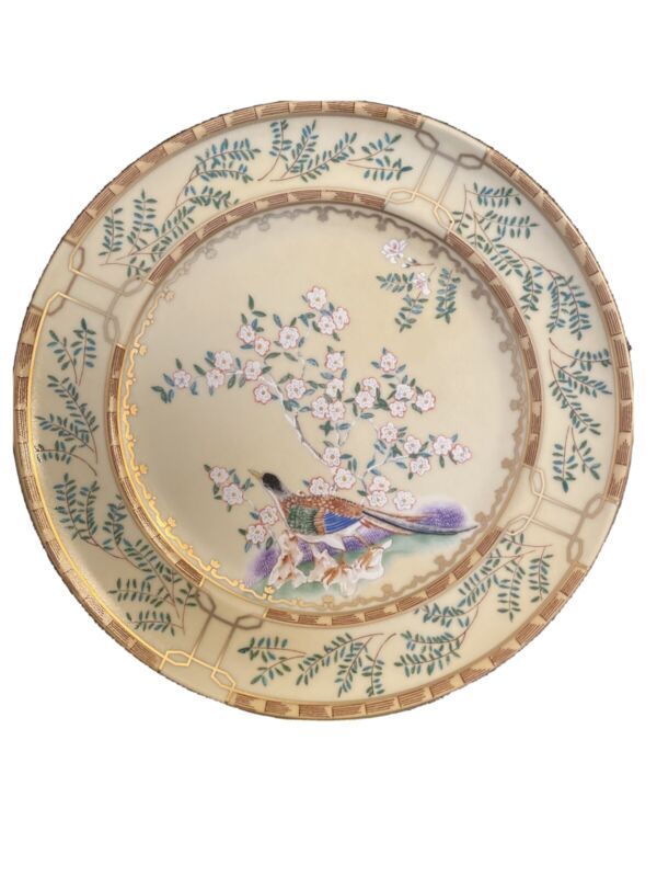 Mottahedeh Ching Garden 3  Bread Plates  Williamsburg Reserve Hand Painted Gold