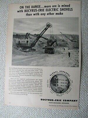 1957 Bucyrus-erie 150-b Electric Shovel Crane Print Ad