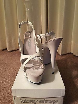 Tony Shoes Rhinestone Stripper Platform Dancing 6