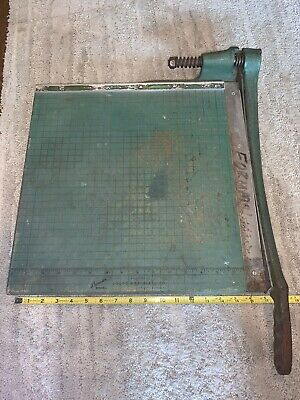 Vintage Premier Brand Photo Materials Co. Paper Cutter 19x19 Guillotine Style.