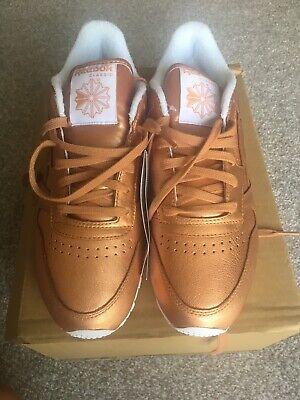 Reebok Classic Face Stockholm Women's Size 6.5 Impulse Metallic Orange Shoes