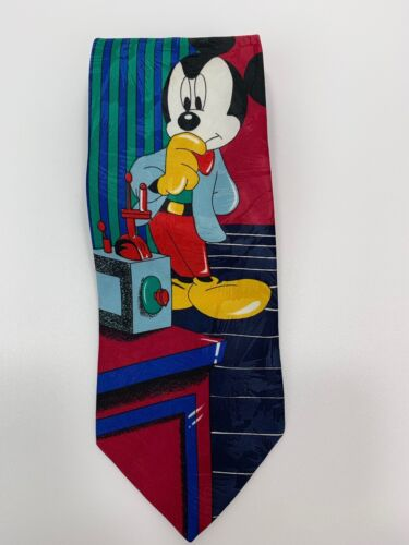 """Disney Mickey Mouse Multi Color Neck Tie Mens 62"""" x 4"""" Mickey Unlimited"""