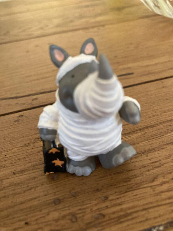 Hallmark Merry Miniatures Figurine 1995 Rhino Mummy - Halloween - #QFM8149