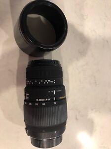 Sigma 70-300mm f/4-5.6 zoom and macro lens