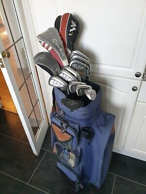 SUPER FULL SET OF TAYLORMADE 200 GOLF CLUBS, RIGHT HANDED, NIKE BAG, PING PUTTER