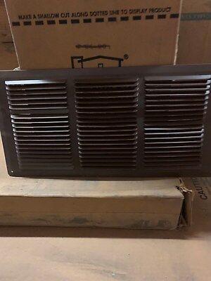 Lomanco Brown Aluminum Louver Soffit Strip 16 X 8 New